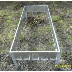 Грядка оцинкованная 0,75*3,8 м высокая (H-38 см)