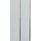 Панель ПВХ белая двухсекционная, полоса хром 240*3000*8 мм