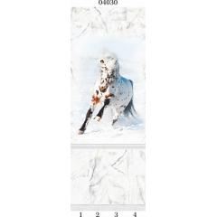 "04030 Дизайн-панели PANDA ""Белый мрамор"" Панно 4 шт"