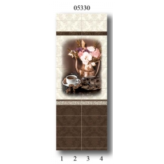 "05330 Дизайн-панели PANDA ""Шоколад"" Панно 4 шт"