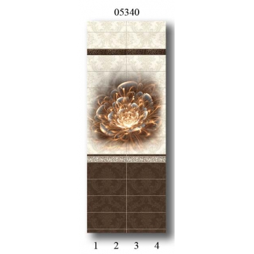 "05340 Дизайн-панели PANDA ""Шоколад"" Панно 4 шт"