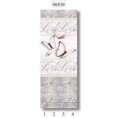 """06830 Дизайн-панели PANDA """"Романтика"""" Панно 4 шт"""
