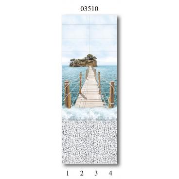 """03510 Дизайн-панели PANDA """"Море"""" Панно 4 шт"""