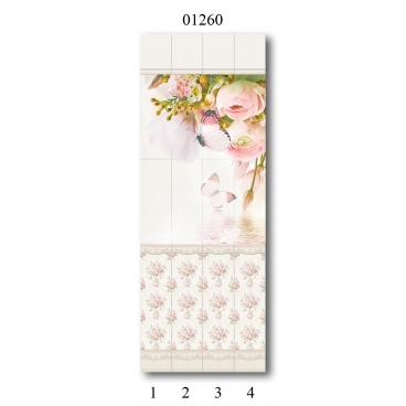 """01260 Дизайн-панели PANDA """"Прованс"""" Панно 4 шт"""