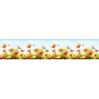"Кухонный фартук термоперевод на основе АВС-пластика ""Пчелки"""