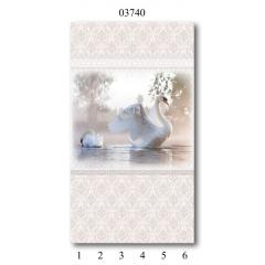 """03740 Дизайн-панели PANDA """"Дамасский узор"""" Панно 6 шт"""