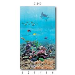 """01140 Дизайн- панели PANDA """"Подводный мир"""" Панно 6 шт"""