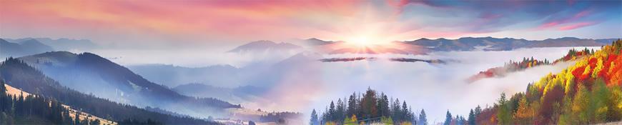 Кухонный фартук АБС Альпийские горы