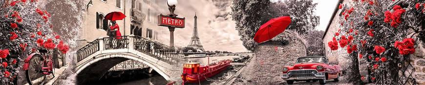 Кухонный фартук АБС Французская романтика