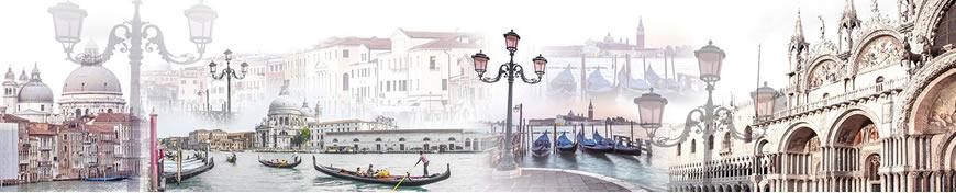 Кухонный фартук АБС Каникулы в Венеции