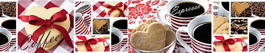 Кухонный фартук АБС Кофе с любовью