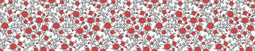 Кухонный фартук АБС Красные розы