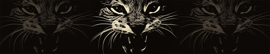 Кухонный фартук АБС Леопард