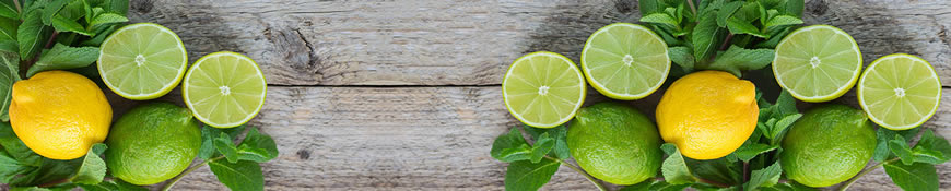 Кухонный фартук АБС Лимоны и лайм