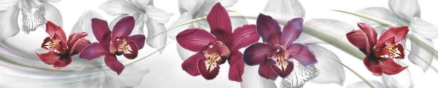 Кухонный фартук АБС Орхидеи