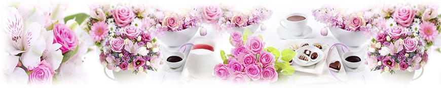 Кухонный фартук АБС Розовое настроение