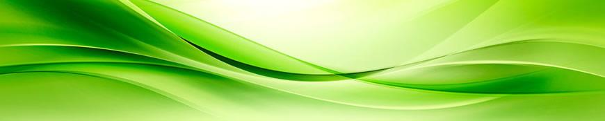 Кухонный фартук АБС Зеленая волна