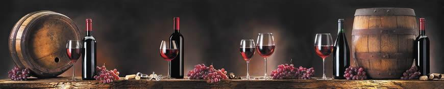 Кухонный фартук АБС Красное вино