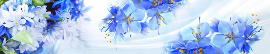 Кухонный фартук АБС Нежные цветы