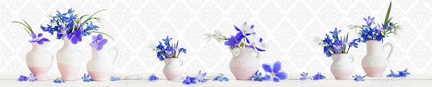 Кухонный фартук АБС Весенние цветы