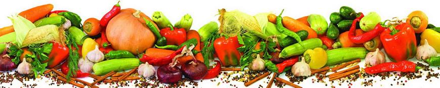 Кухонный фартук АБС Овощное ассорти