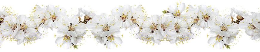 Кухонный фартук АБС Цветы вишни