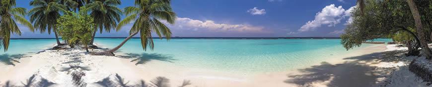 Кухонный фартук АБС Лазурный пляж