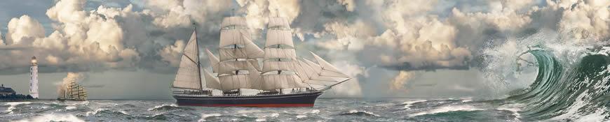 Кухонный фартук АБС Морское путешествие