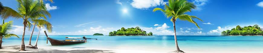 Кухонный фартук АБС Солнечный пляж