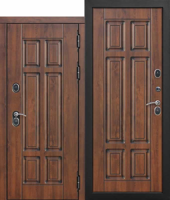 Входная морозостойкая дверь cтерморазрывом 13 см Isoterma МДФ/МДФ