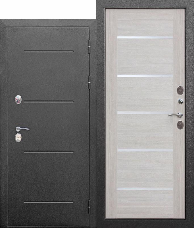 Входная морозостойкая дверь cтерморазрывом 11 см Isoterma СЕРЕБРО