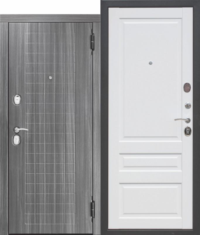 10,5 см. Гарда мдф/мдф Грей/белый матовый Царга (860) левая